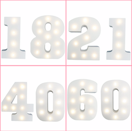Illuminated Ages or Numbers