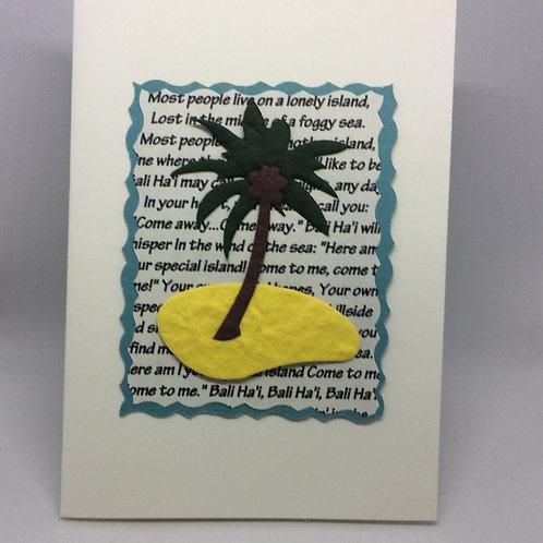 "South Pacific ""Bali Ha'i"" Card"