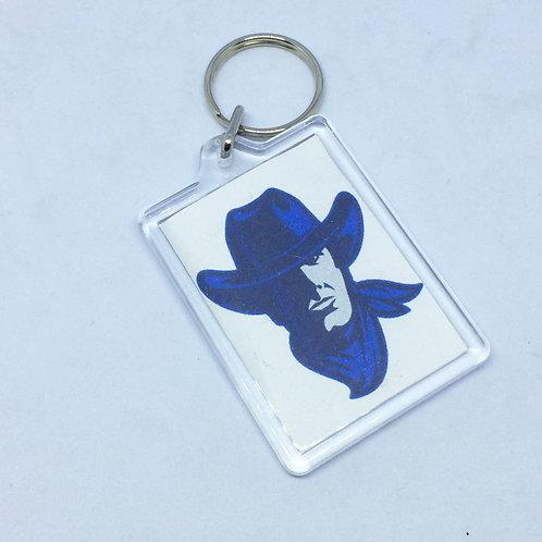 Blue Cowboy Double Sided Keyring