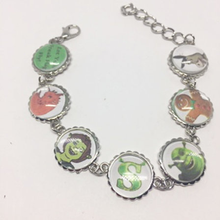 Shrek Cabochon Bracelet