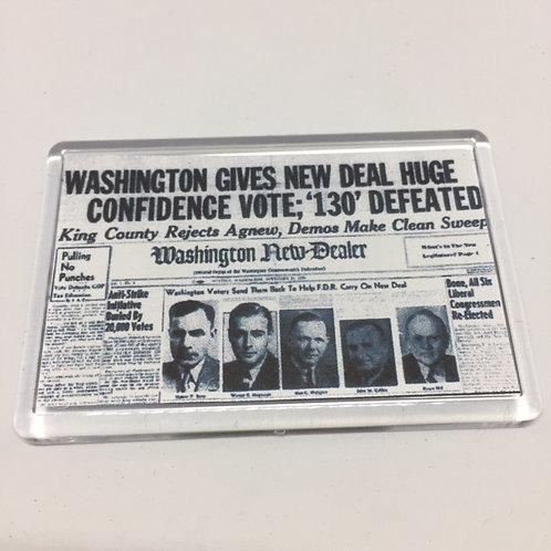 Annie New Deal Fridge Magnet