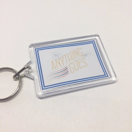 Anything Goes Double Sided keyring