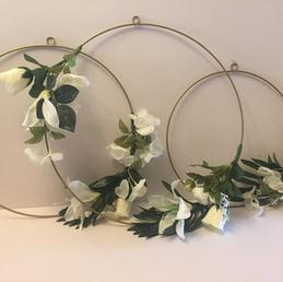 3 Hanging Flower Hoops