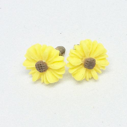 Calendar Girl Sunflower Stud Earrings