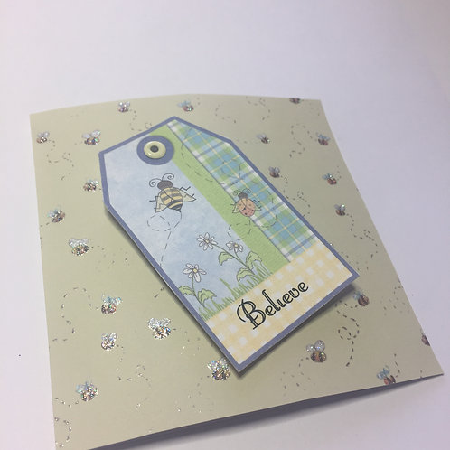 Bee Believe Small Square Card