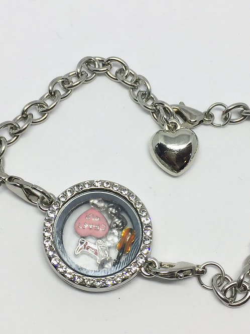 Crazy for You memory locket bracelet