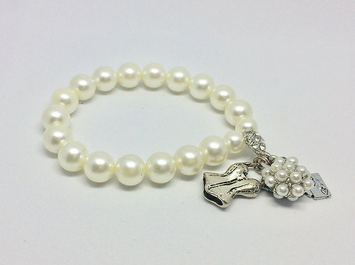 Guys & Dolls Take Back your Mink Pearl Bracelet