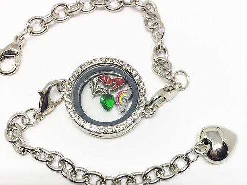Wizard of Oz memory locket Bracelet