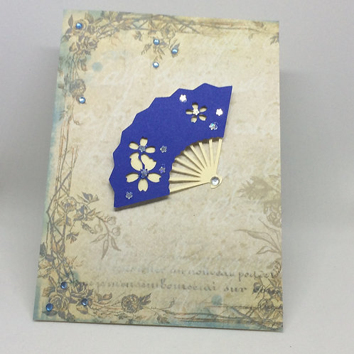 Oriental Fan Cards - Colours may vary