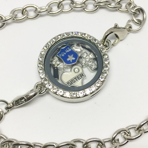 Sister Act memory locket bracelet