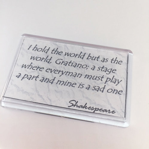 Shakespeare 'I Hold the World' Fridge Magnet
