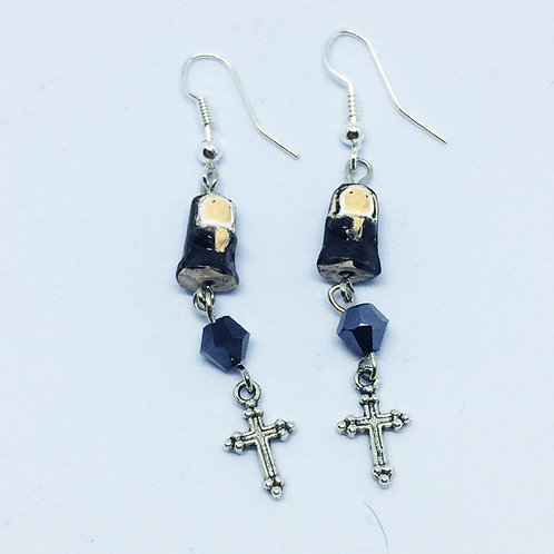 Nun Drop Earrings