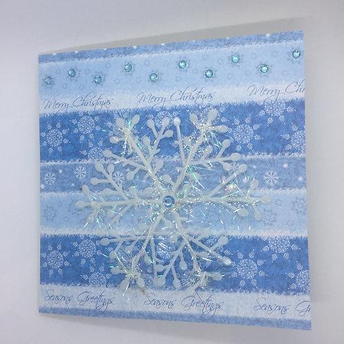 Merry snowflake card