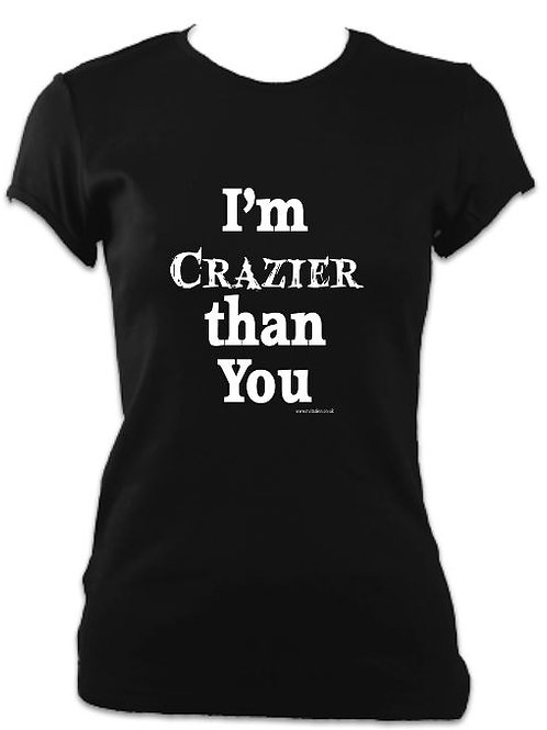 Addams Family Ladies Fitted Crazier than You T-shirt