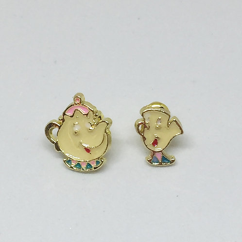 Beauty & The Beast - Mrs Potts and Chip Stud Earrings