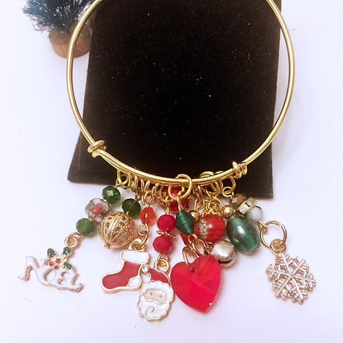 Christmas Themed Adjustable Bracelet