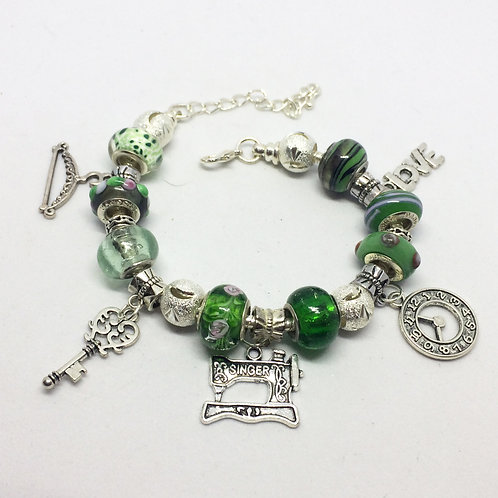 The Pajama Game Charm Bracelet