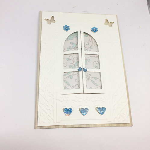 Arched window blank card