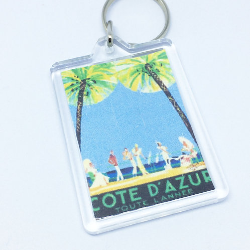 Cote D'Azur double Sided Keyring