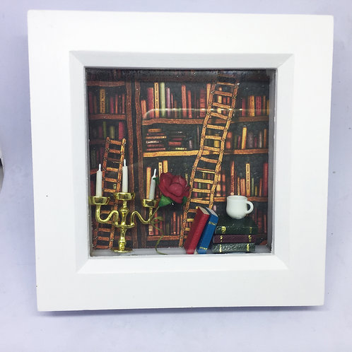 Beauty and the Beast 3D Shadow Box
