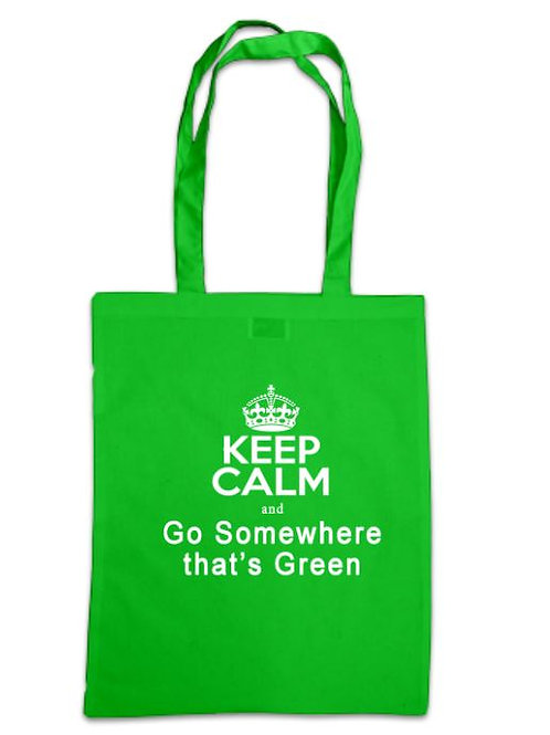 Little Shop of Horrors Keep Calm and go Somewhere that's Green Tote Bag