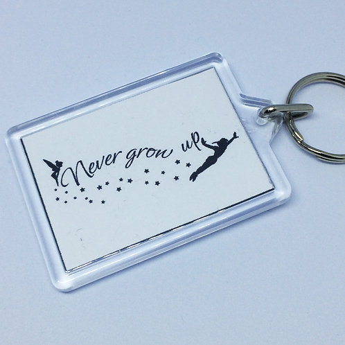 Peter Pan Never Grow Up Double Sided Keyring