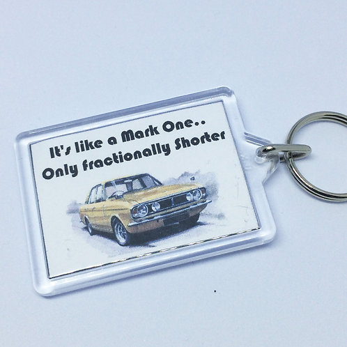 Made in Dagenham Cortina Double Sided Keyring