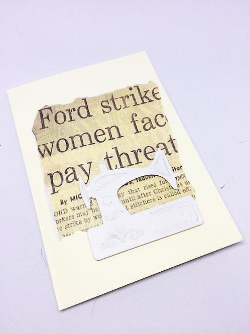 Made in Dagenham Womens Strike Card