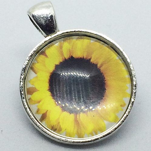 Calendar Girls Sunflower Round Pendant