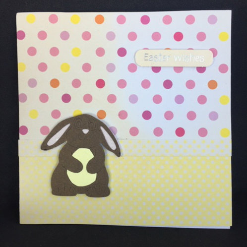 Yellow Spotty Easter Wishes Square Card