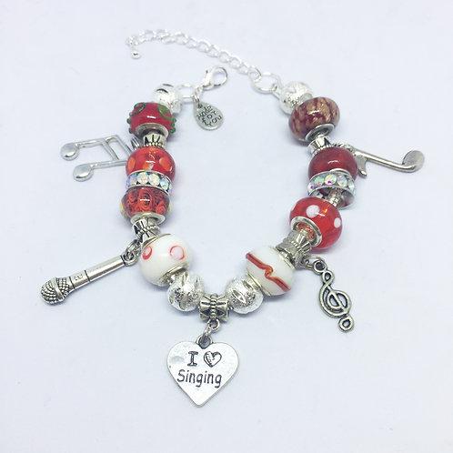 Singers Charm Bracelet