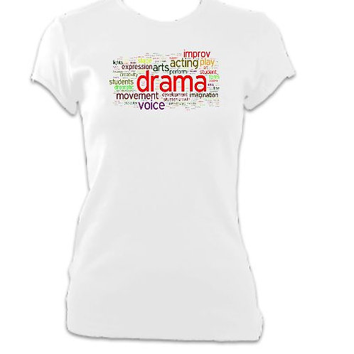 Drama Words Ladies Fitted T-shirt