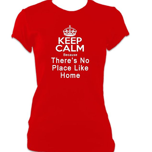 Wizard of Oz Ladies Fitted No Place like Home T-shirt