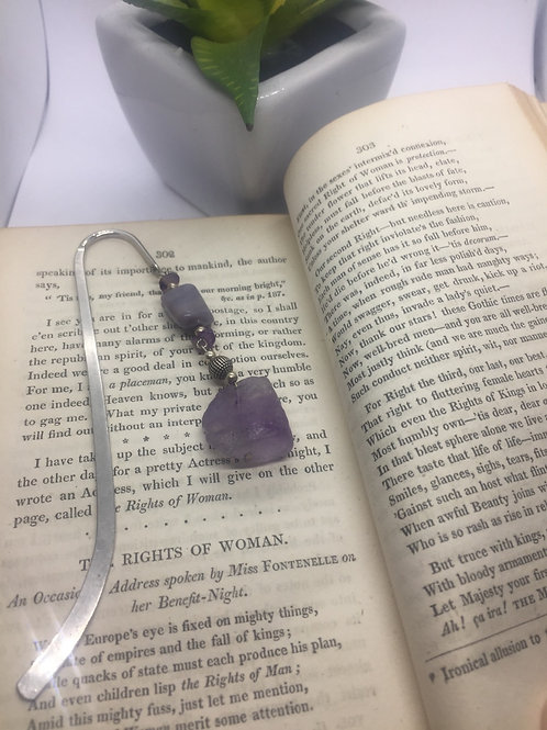 Pale lilac/grey rough onyx bookmark