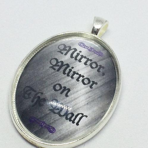 Snow White 'Mirror, Mirror' Oval pendant