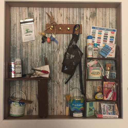 Miniature Dad's Shed Shadow Box