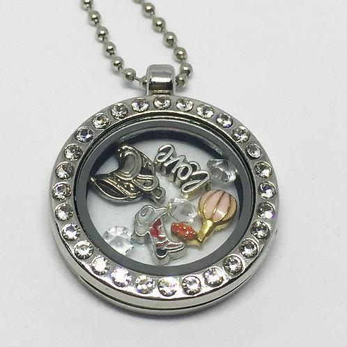 Oklahoma Memory Locket necklace