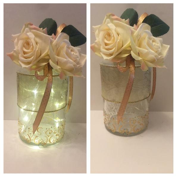 Gold Floral LED Gin bottle 04