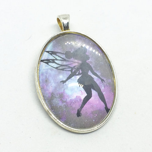 Peter Pan Tinkerbell Oval Pendant