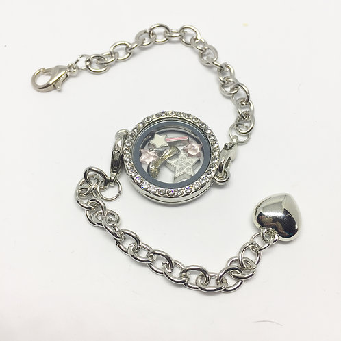 Cinderella's memory locket bracelet