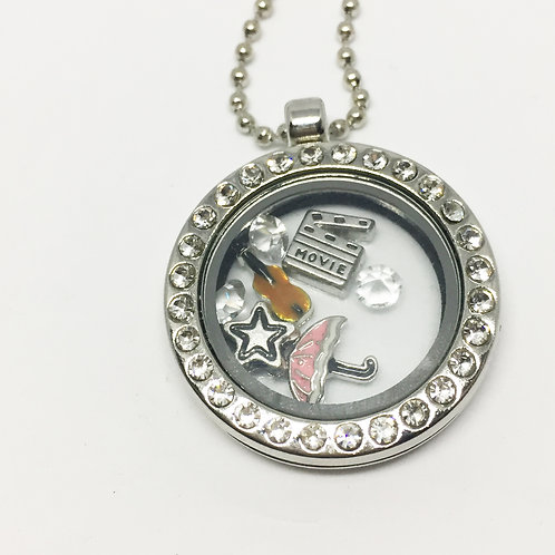 Singing in the Rain memory Locket necklace