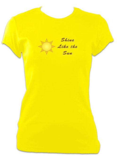 9 to 5 Ladies Fitted Shine like the Sun T-shirt