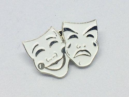 Enamel Theatre Masks Lapel Pin