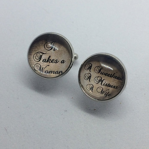 Hello Dolly 'It Takes a Woman' Cufflinks