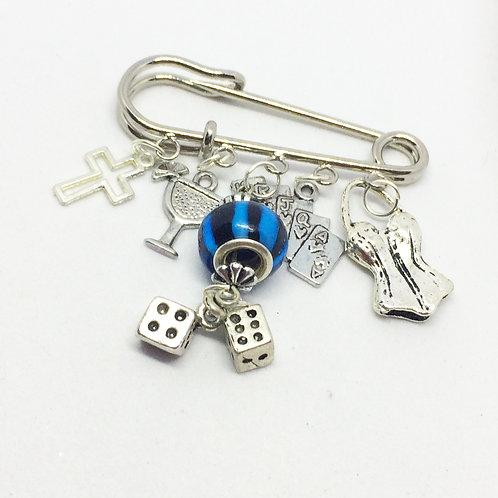 Guys & Dolls Brooch Pin