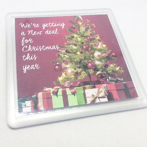 Annie 'New Deal for Christmas' Coaster