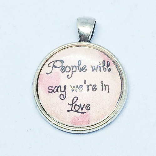 Oklahoma 'People Will Say we're in Love' Round Pendant