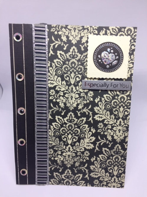 Black patterned rectangular Especially for You card