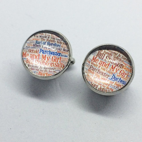 Me and My Girl word mix cufflinks