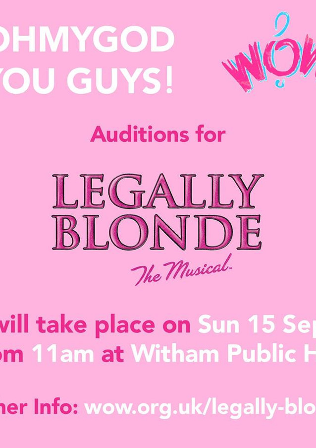 Legally Blonde Auditions